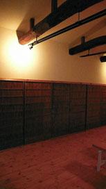アトリエ左側の収納建具御簾戸