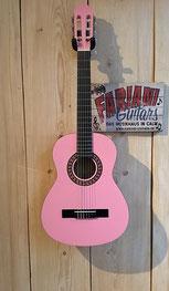 Kirkland Kinderkonzertgitarre in Farbe: Pink/Rosa, 3/4 Akustik- Konzertgitarre für Kinder, 75365 Calw
