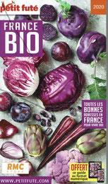 """Recommandé par le """"Petit Futé"""" """"France BIO 2020"""", page 36"""