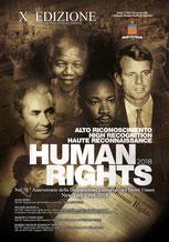 Brochure Premio per i Diritti Umani. Progetto grafico Dario Chiavarini