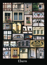 Postkarte Motiv Fenster Ebern