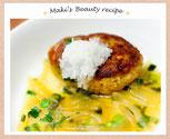 石川マキのビューティーレシピ 豆腐と野菜のヘルシーあんかけハンバーグ