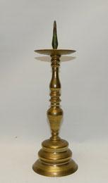 Barock Leuchter Messing, gegossen und abgedreht, 18. Jahrhundert, 39,0 cm, € 450,00