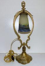 Details zu  Jugendstil Lampe, Muller Freres Luneville, Pate de verre,Bronzemontur, Ori. Glas , € 790,00