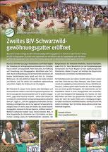 Zweites BJV-Schwarzwildgewöhnungsgatter eröffnet