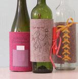 Hochzeitsgeschenk/Geldgeschenk Weinflasche/Sektflasche