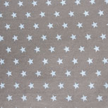 grau mit hellblauen Sternen