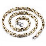 Königskette Gold Silber aus hochwertigem Edelstahl - 55 cm