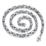 Königskette Silber aus Edelstahl 55 cm