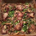 Gratiniertes Schweinefilet aus der Ofenhexe