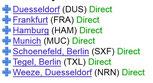 Direktflüge von Deutschland nach Madrid, 2013