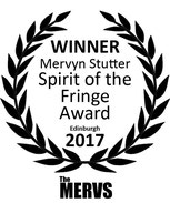 Christine Bovill was awarded this Spirit of the Fringe award at Edinburgh this year.
