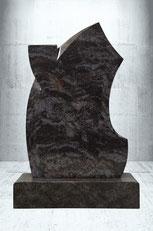 Grabstein gebeugte Kontur mit Träne
