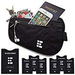 Flache Bauchtasche mit RFID Blocker für Damen und Herren Geldgürtel zum Reisen