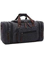 Aidonger Unisex Canvas Großräumige Handtasche Schultertasche Reisetasche