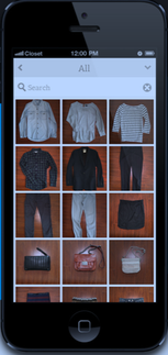 cleanboxone.de, FAQ, Katalogisiert, Bild von Handy mit Kleidungsstücken