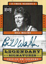 BILL WALTON / Legendary Signatures - No. LS-BW