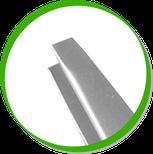 детальный фрагмент пинцета с прямыми краями