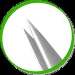 детальный фрагмент пинцета с острыми краями