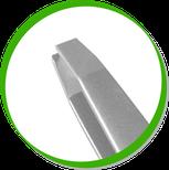 детальный фрагмент пинцета с изогнутыми краями