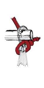 チェアーハンモックの結び方8