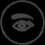 Symbole Auge und Augenbraue
