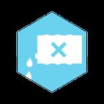 Icon: Kontaminierte Bereiche