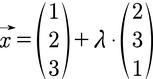 Beispiel für eine Geradengleichung