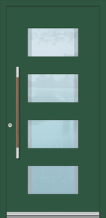 Alu Haustür Düren mit Holzgriff