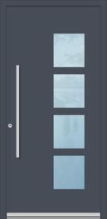 Aluminium Haustür in Düren, flügelüberdeckend inne und außen
