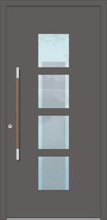 Alu Haustüren flügelüberdeckend innen und außen in Bornheim