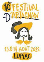 Festival D'Artagnan à Lupiac dans le Gers, terre d'histoire et de festivals, en Occitanie, à 20 minutes de Lassenat éco-maison d'Hôtes en Gascogne, chambre d'Hôtes de charme, table d'hôtes gourmande, bio et locavore, écotourisme et slowtourisme.