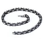 Königskette schwarz silber aus Edelstahl. Länge 55 cm, 60 cm oder 65 cm