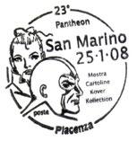 Annullo San Marino 23° Pantheon Piacenza