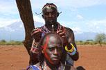 Посещение деревни мамаев в Кении