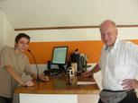 Steven, Praktikant im Interview mit Herrn Peter Graf