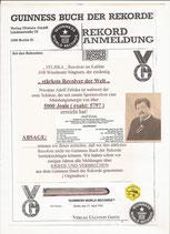 Das original Dokument - mit Antrag und Absage.