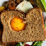 Vegetarian Lentils with Egg Toast