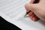 Unterzeichnung des Mietvertrages