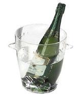 seau à champagne transparent  à louer
