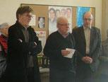 Claude PODER, chargé de l'urbanisme et de l'aménagement de la commune, Christian GEFFROY et Michel BONNET