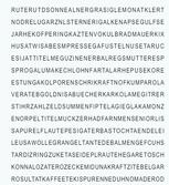 Buchstabenreihen mit versteckten Wörtern