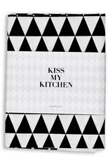 kiss my kitchen küchentuch mit muster