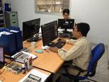 技術室でのCAD/CAM作業