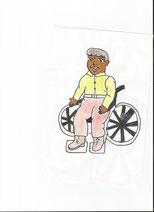 Dessin d'une personne en fauteuil 2015