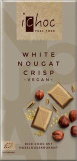 white nougat crisp iChoc weiße schokolade