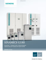 SIEMENS - SINAMICS G180 - Converters – Compact Units, Cabinet Systems, Cabinet Units Air-Cooled and Liquid-Cooled - Catalog D 18.1 - Edition 2014 © Siemens AG 2020, All rights reserved