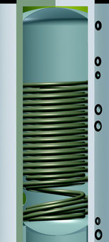 Wassererwärmer für Wärmepumpe von Solar hoch 2