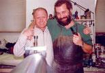 Peter Florian mit Kupferdruckmeister Josef Mühlbacher