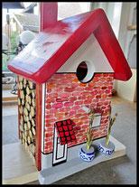 """Houten Nestkastje """"ons boerderij"""",  Vogelhuisje naar foto"""